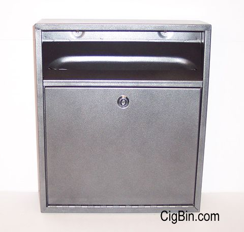 wall mounted cigarette bin powder coated finish